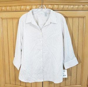 Covington Striped Blouse, sz XL, NWT